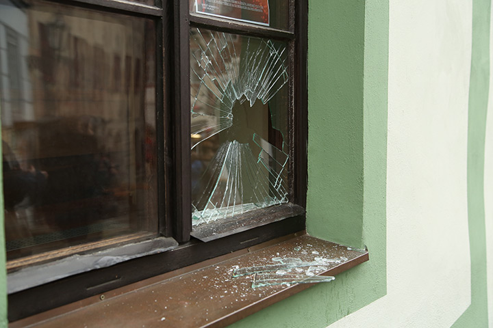 A2B Glass are able to board up broken windows while they are being repaired in Newhaven.